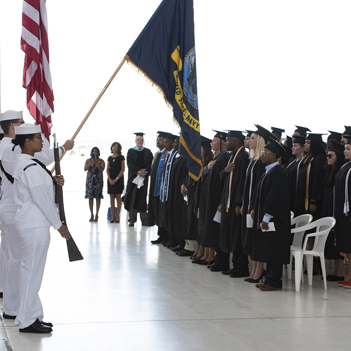 Navy College Students Participate in Graduation Ceremony