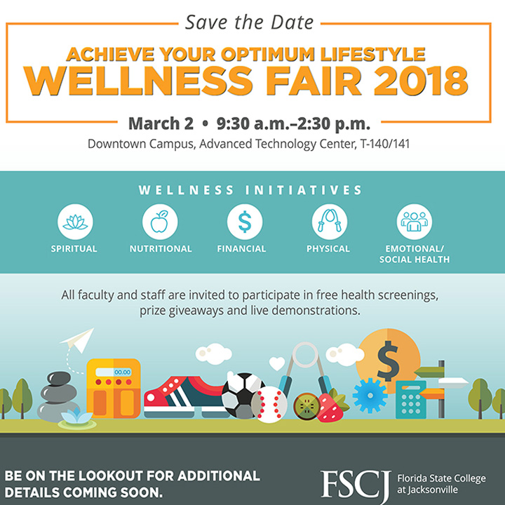 Save the Date: FSCJ Wellness Fair Coming March 2