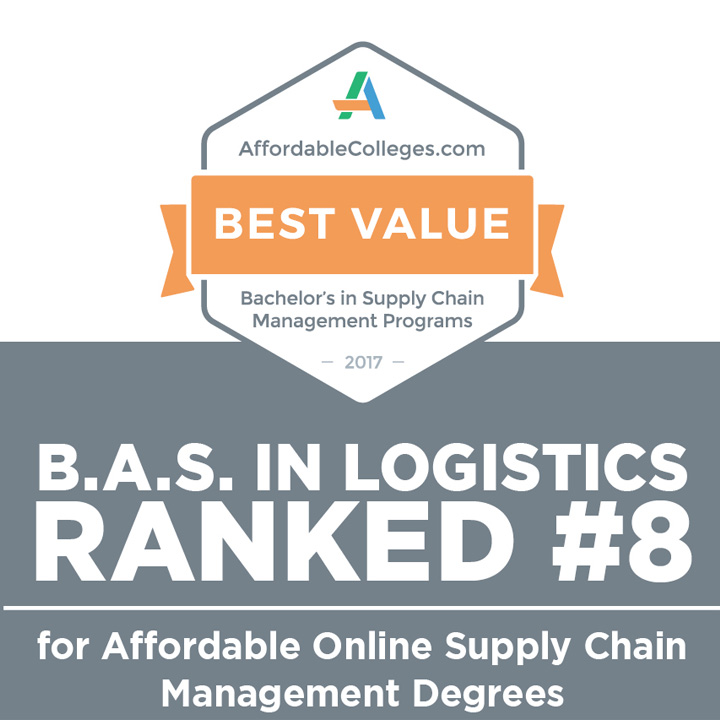 B.A.S. in Logistics Nationally Ranked for Affordability