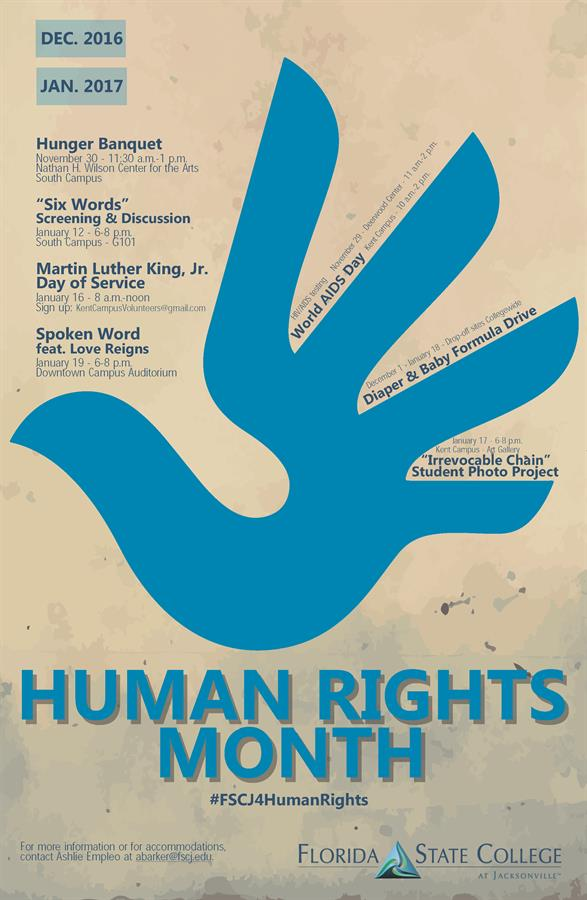 Human Rights Month Calendar of Events