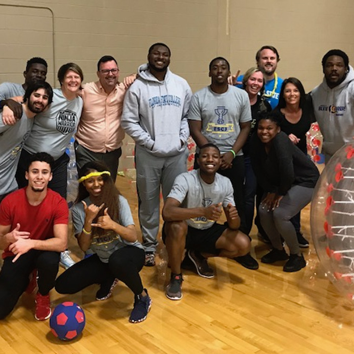FSCJ BlueWave Hosts Bubble Soccer Competition