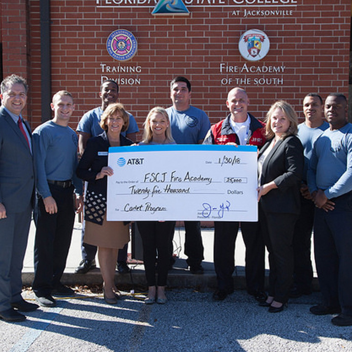 FSCJ Receives $25,000 Fire Cadet Academy Grant from AT&T Foundation