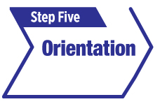 Step five, orientation
