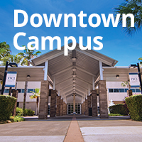 Front of downtown campus