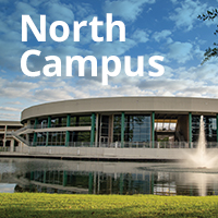 Picture of front of the North Campus building