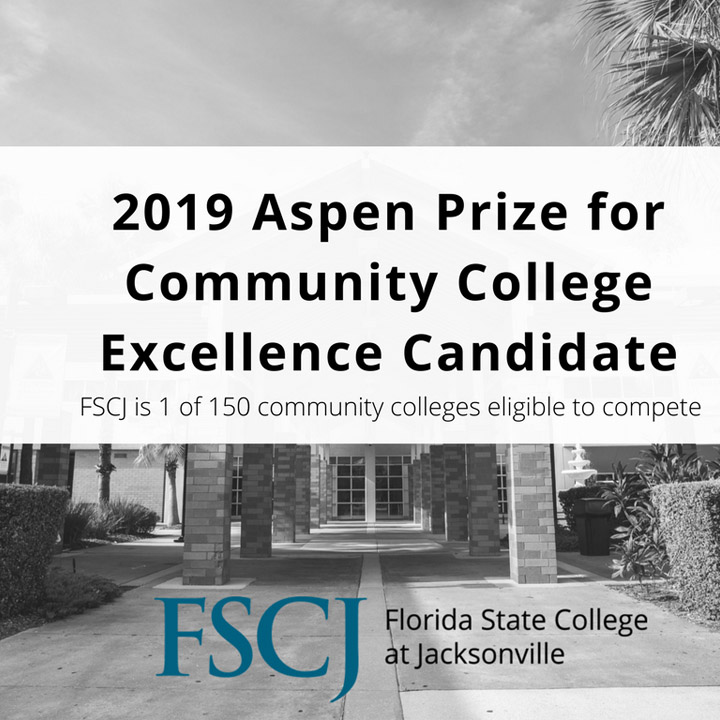 FSCJ Named One of 150 Top US Community Colleges Eligible to Compete for $1 Million Dollar Aspen Prize