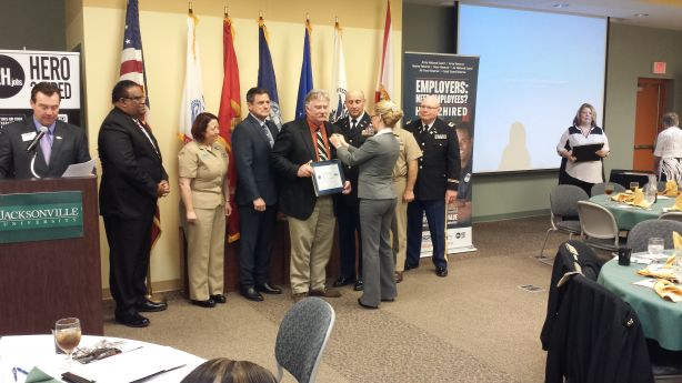 FSCJ Director Military Education Awarded Patriot Award