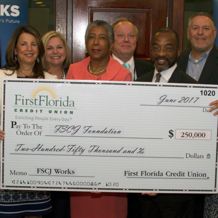 First Florida Credit Union Donates $250,000 to FSCJ